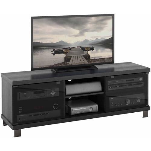 Corliving Holland Ravenwood Black Tv Bench For Tvs Up To 68