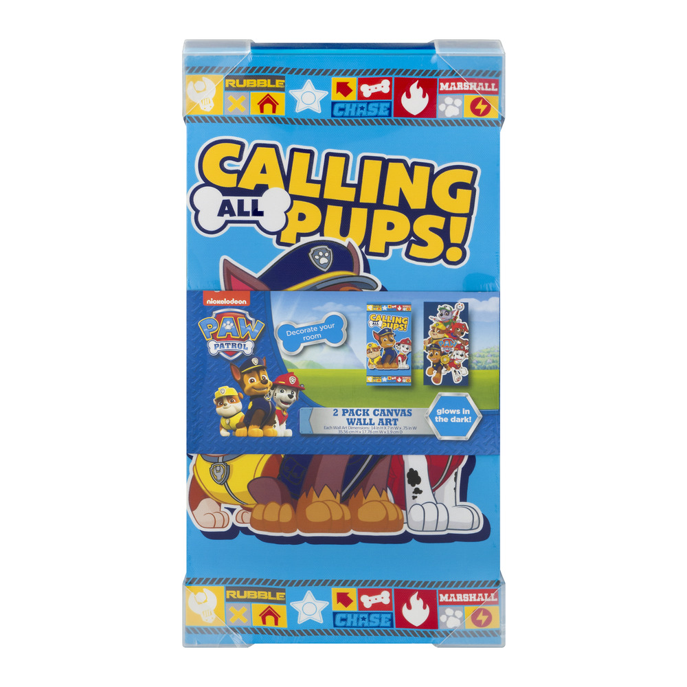 Nickelodeon Paw Patrol Calling All Pups Canvas Wall Art - 2 PK, 2.0 PACK