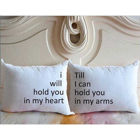 Wendana Personalized Wedding Pillowcase Custom Quote Pillow Covers I Will Hold You In