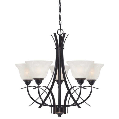 Westinghouse Lighting Pacific Falls 5 Light Shaded Chandelier