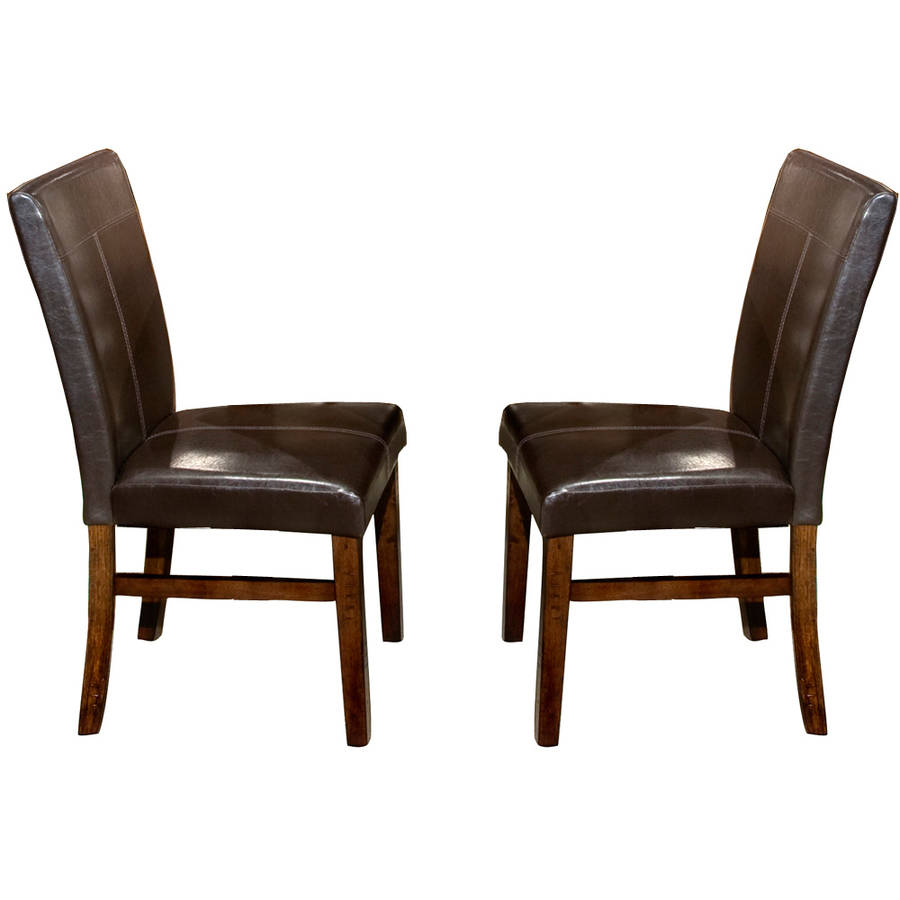 Imagio Home by Intercon Kailua Parson's Side Chair, Set of 2, Distressed Raisin
