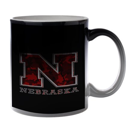 - KuzmarK Black Heat Morph Color Changing Coffee Cup Mug 11 Ounce - Nebraska Red Camouflage