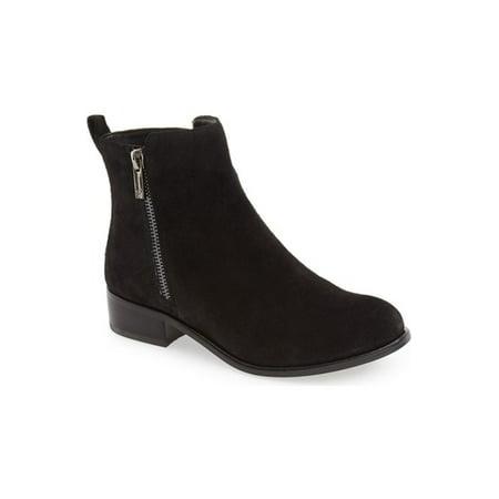Jessica Simpson Kesaria Ankle Boot Black Suede Low Cut Ankle Simple Boots Cut Out Ankle Boots