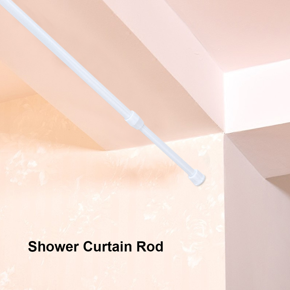 TOPINCN Adjustable Spring Loaded Tension Rod Shower Extendable Curtain  Closet Window Rail Pole, Spring Tension