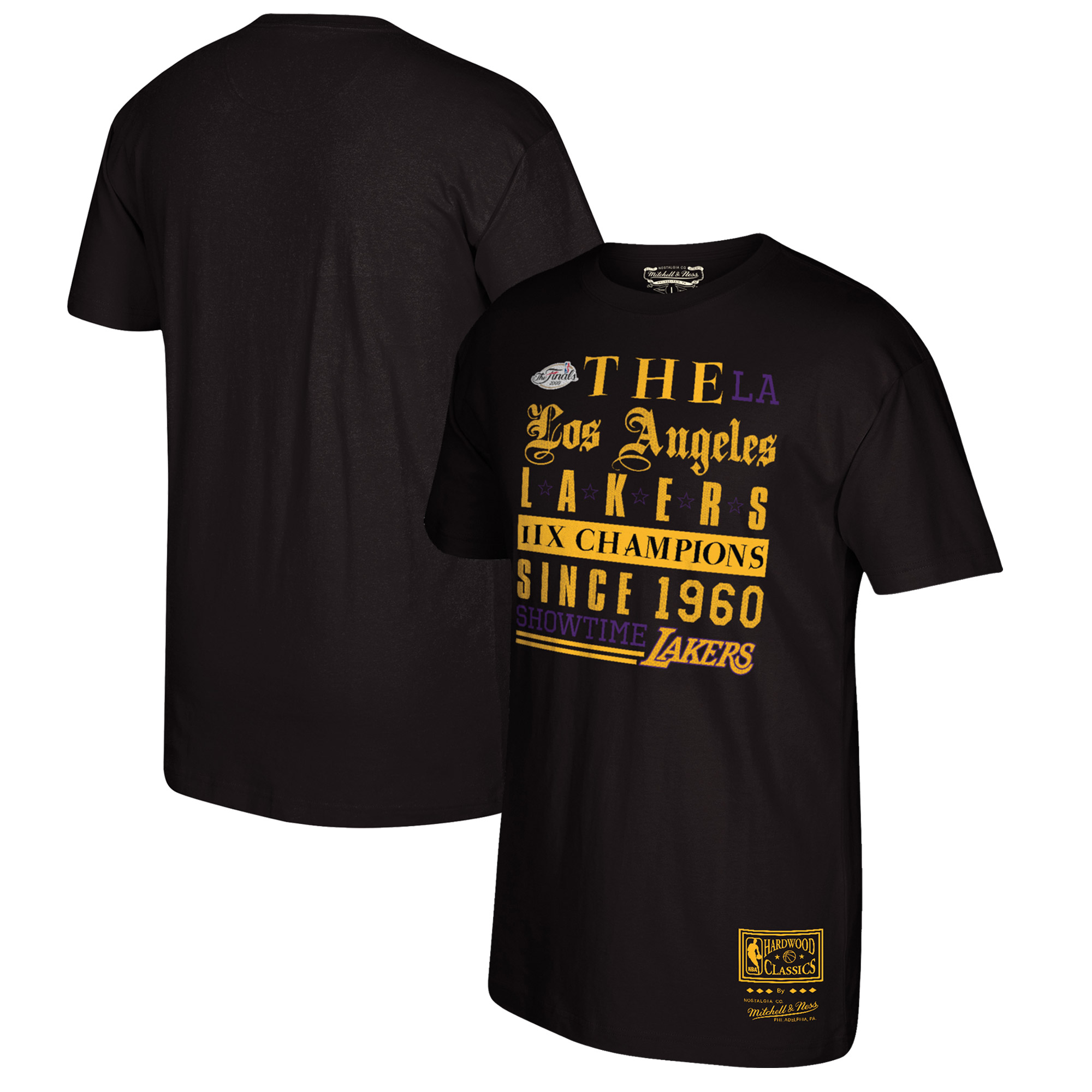 Los Angeles Lakers Mitchell & Ness Snake Skin Established T-Shirt - Black