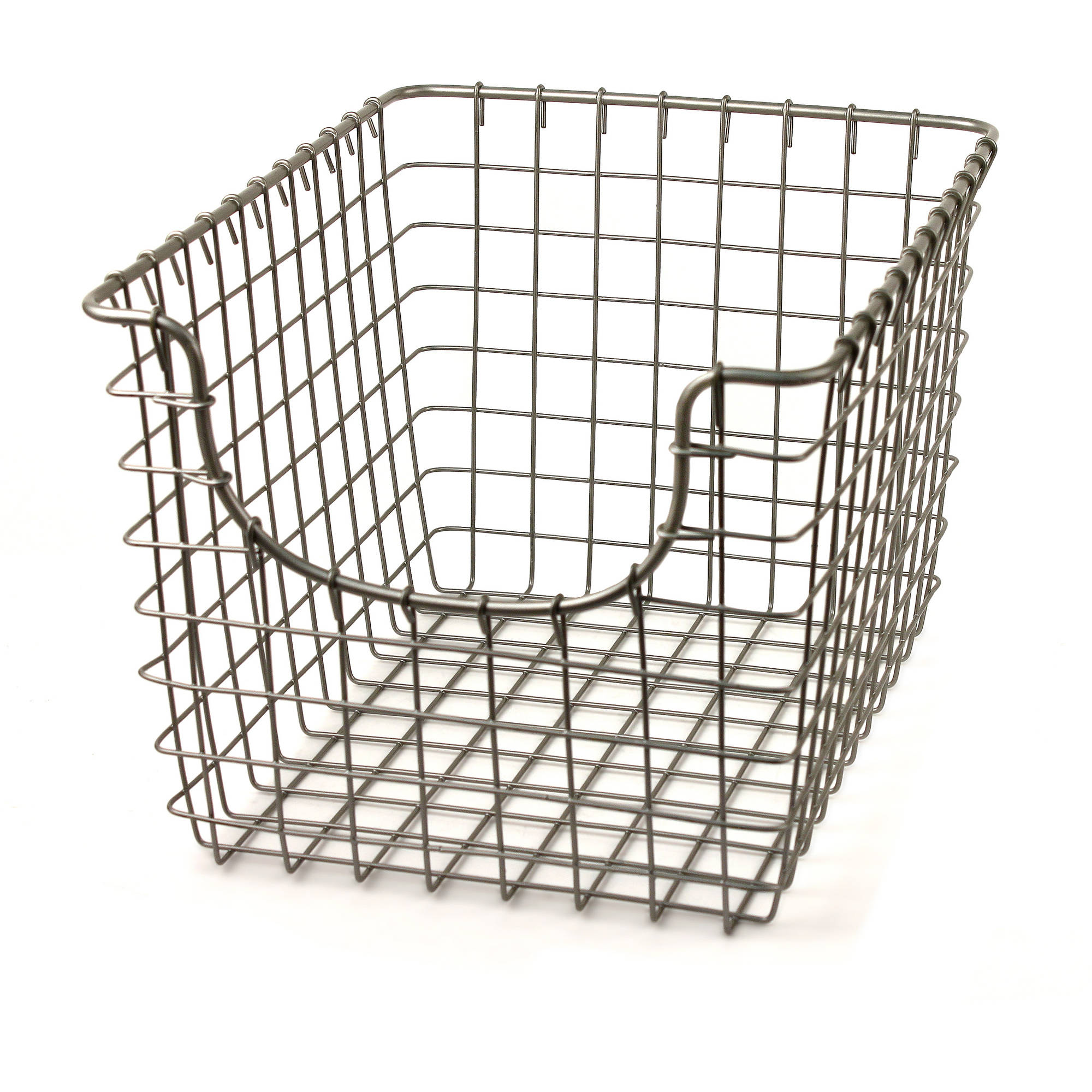 Spectrum Scoop Small Basket, Satin Nickel by Spectrum Diversified Designs Inc