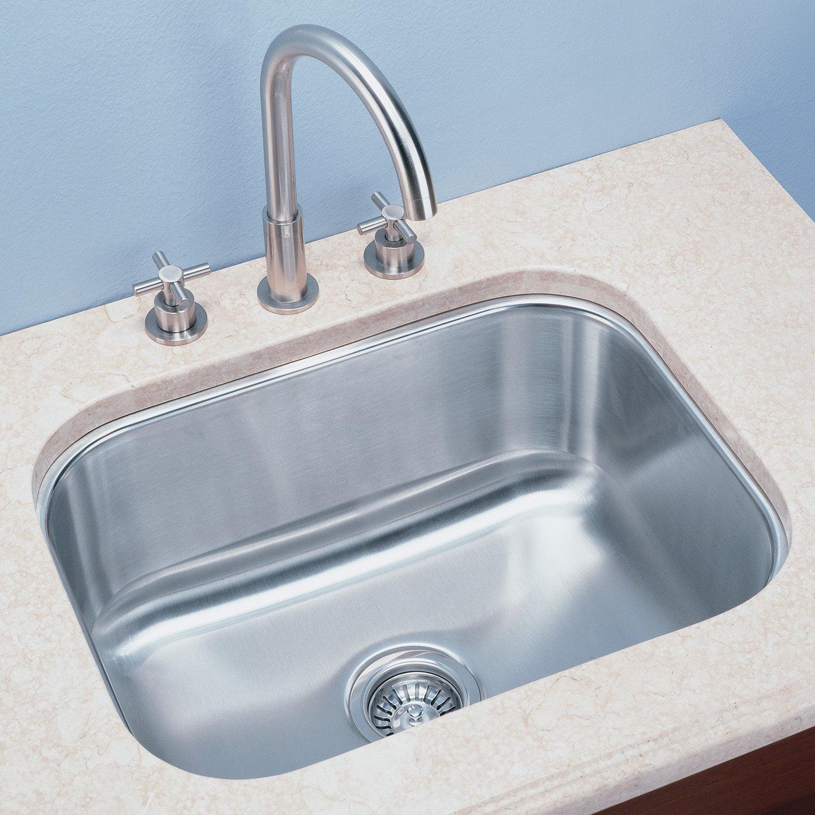 Empire Industries S Single Basin Undermount Kitchen Sink-8 in.