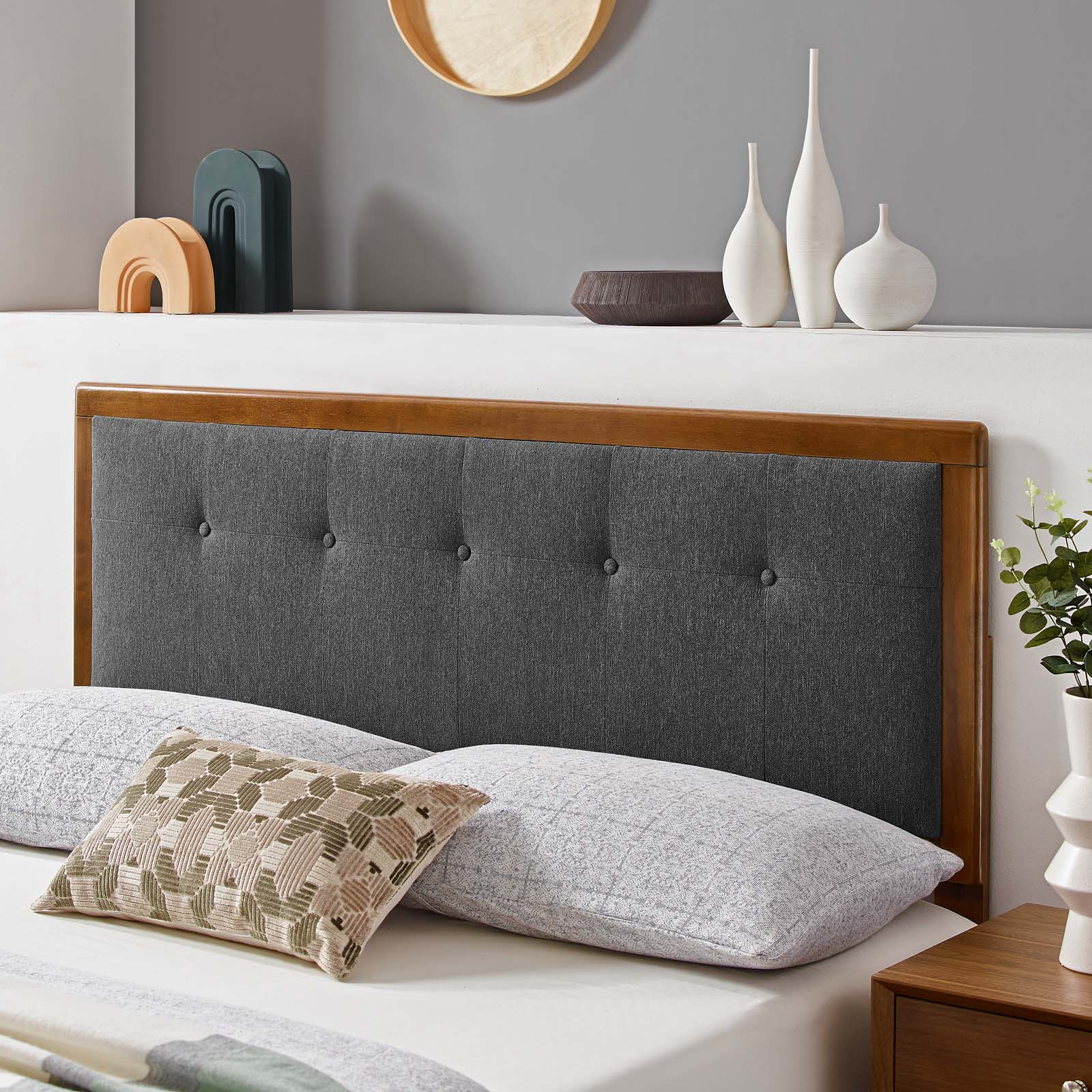 Modway Draper Tufted King Fabric And Wood Headboard Multiple Colors Walmart Com Walmart Com