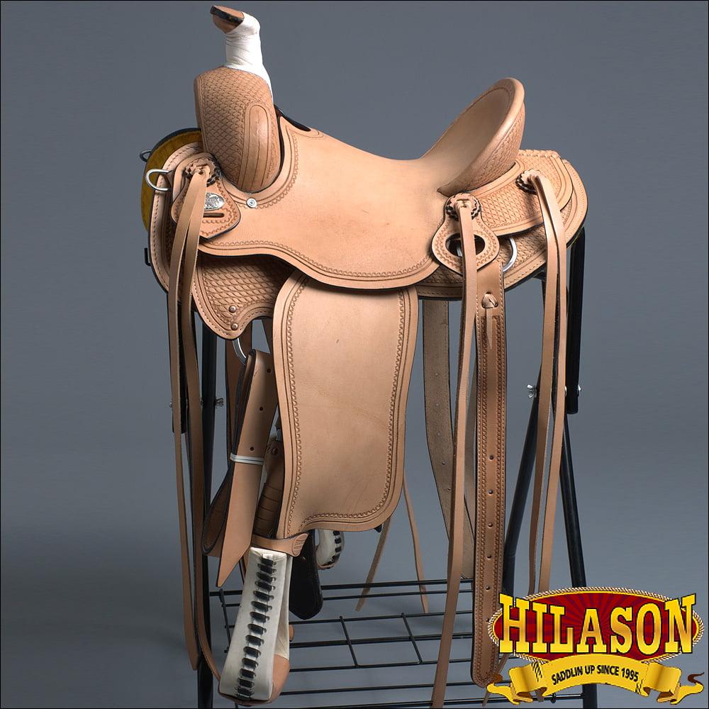 OS104-F HILASON WESTERN HORSE COWBOY TRAIL WADE ROPING SA...