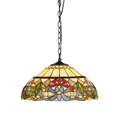 Chloe Lighting Tiffany Style Victorian Design 2-light Hanging Pendant ()