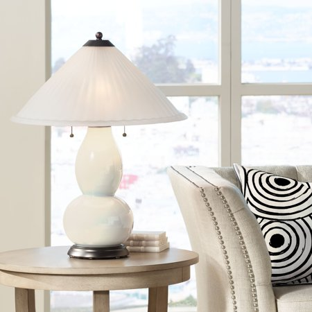 Color + Plus Steamed Milk Fulton Table Lamp with Fluted Glass Shade