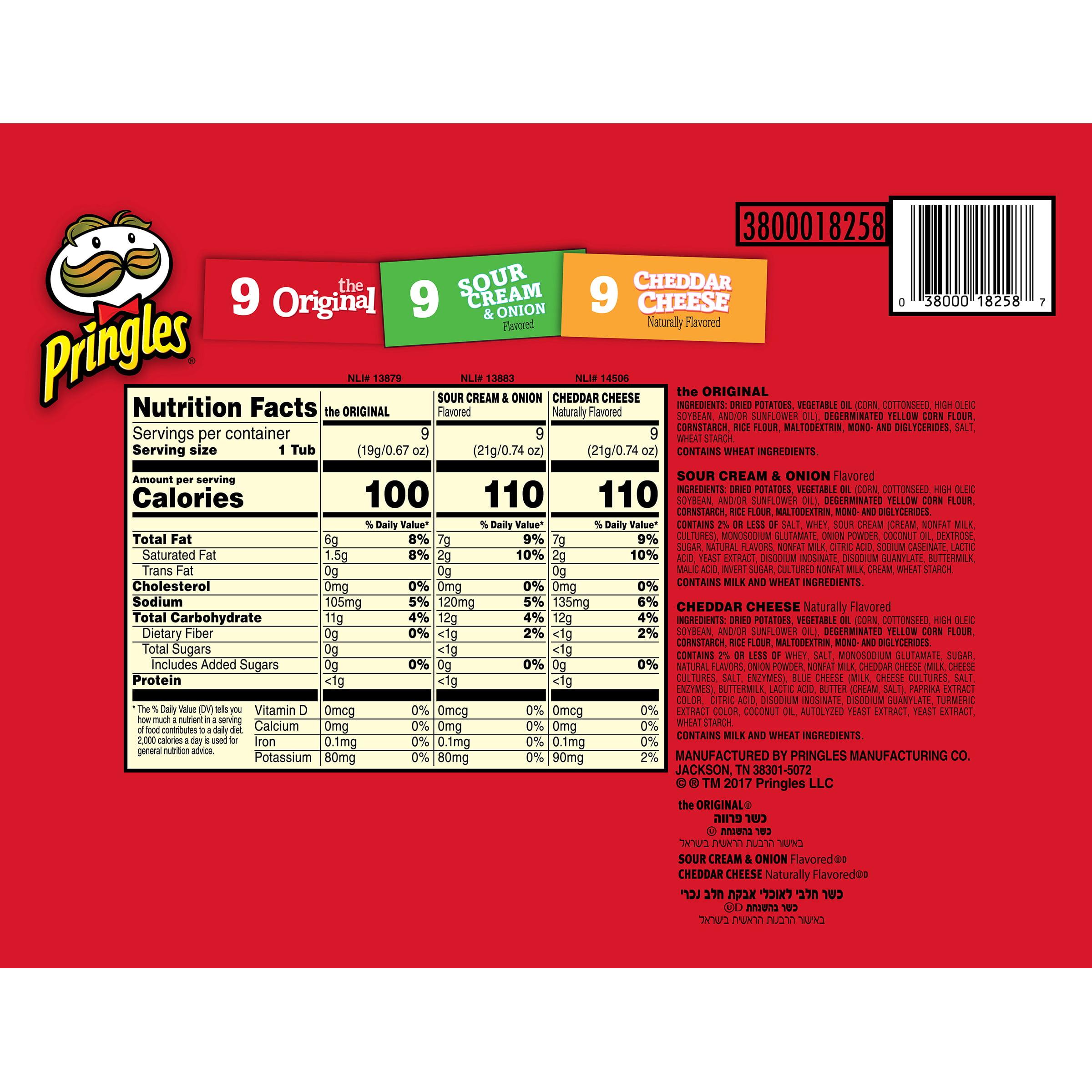 Pringles Original Sour Cream Cheddar