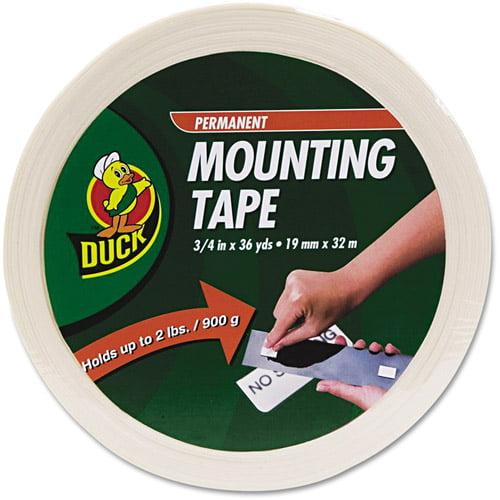 "Duck Brand Permanent Foam Mounting Tape, 3/4"" x 36 yd"
