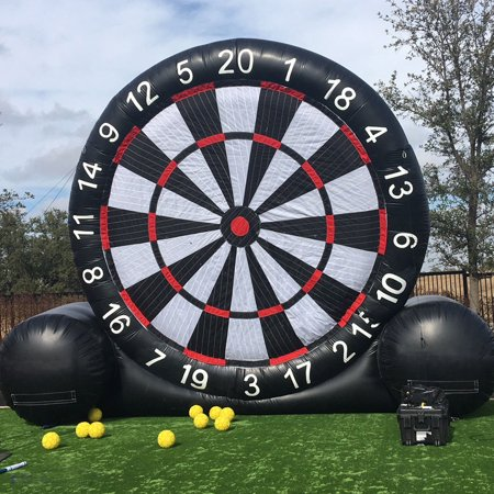 3 Meter High Huge Game Soccer Inflatable Football Dart Board With 110V Air Blower 3 Meter Masking Film