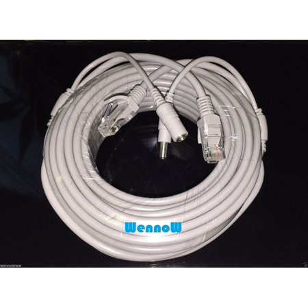 Gray 50ft Cat5E Network Ethernet LAN Video/Power Cable for CCTV IP Camera and wifi router, Gray 50ft Cat5E Network Ethernet LAN Video/Power Cable.., By WennoW Ethernet Ip Network