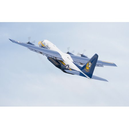 LAMINATED POSTER The U.S. Navy Flight Demonstration Squadron, the Blue Angels, C-130 transport aircraft, known as Fat Poster Print 24 x
