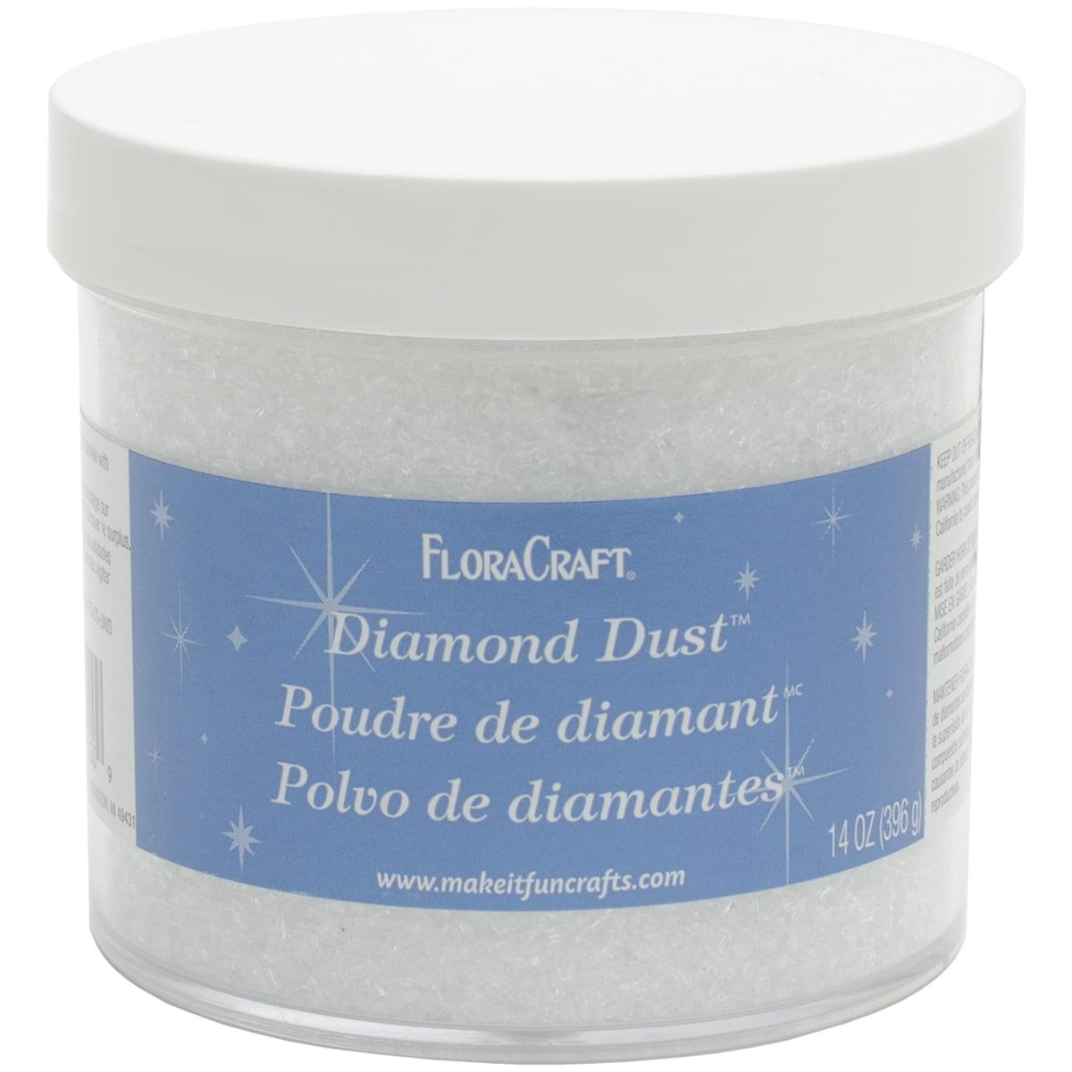 FloraCraft Diamond Dust Glitter Plastic Jar, 14-Ounce - image 1 de 2