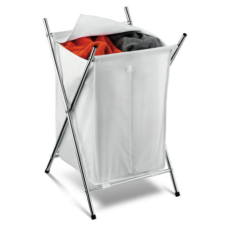 Honey Can Do Folding Hamper with 2 Sorters and Steel X-Frame,