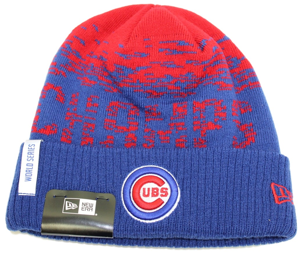chicago cubs new era mlb 2016 world series champions sport knit hat blue cuff
