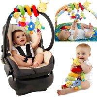 Baby Kids Pram Stroller Bed Around Spiral Hanging Activity Soft Plush Toys