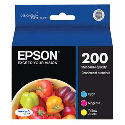 Epson DURABrite Ultra Standard-Capacity Color Multi-Pack Inkjet Print Cartridge (T200520)
