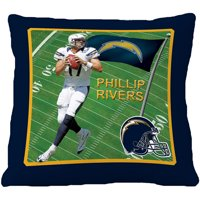 """Biggshots San Diego Chargers Phillip Rivers 18"""" Toss Pillow"""