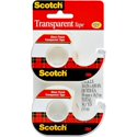 2-Pack Scotch 3/4 in. x 650 in Transparent Tape