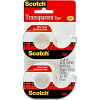 2-Pack Scotch 3/4 in. x 650 in Transparent Tape