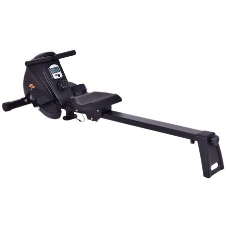 Goplus Magnetic Folding Rowing Machine Rower Exercise Cardio Fitness w/ LCD Monitor