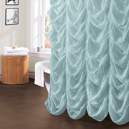 Lush Decor Madelynn Shower Curtain 72 By Inch Sea Foam