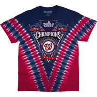 Washington Nationals 2019 World Series Champions V Tie-Dye T-Shirt - Red/Navy