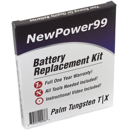 Tungsten Replacement Battery - Palm Tungsten T|X Battery Replacement Kit with Tools, Video Instructions, and Extended Life Battery