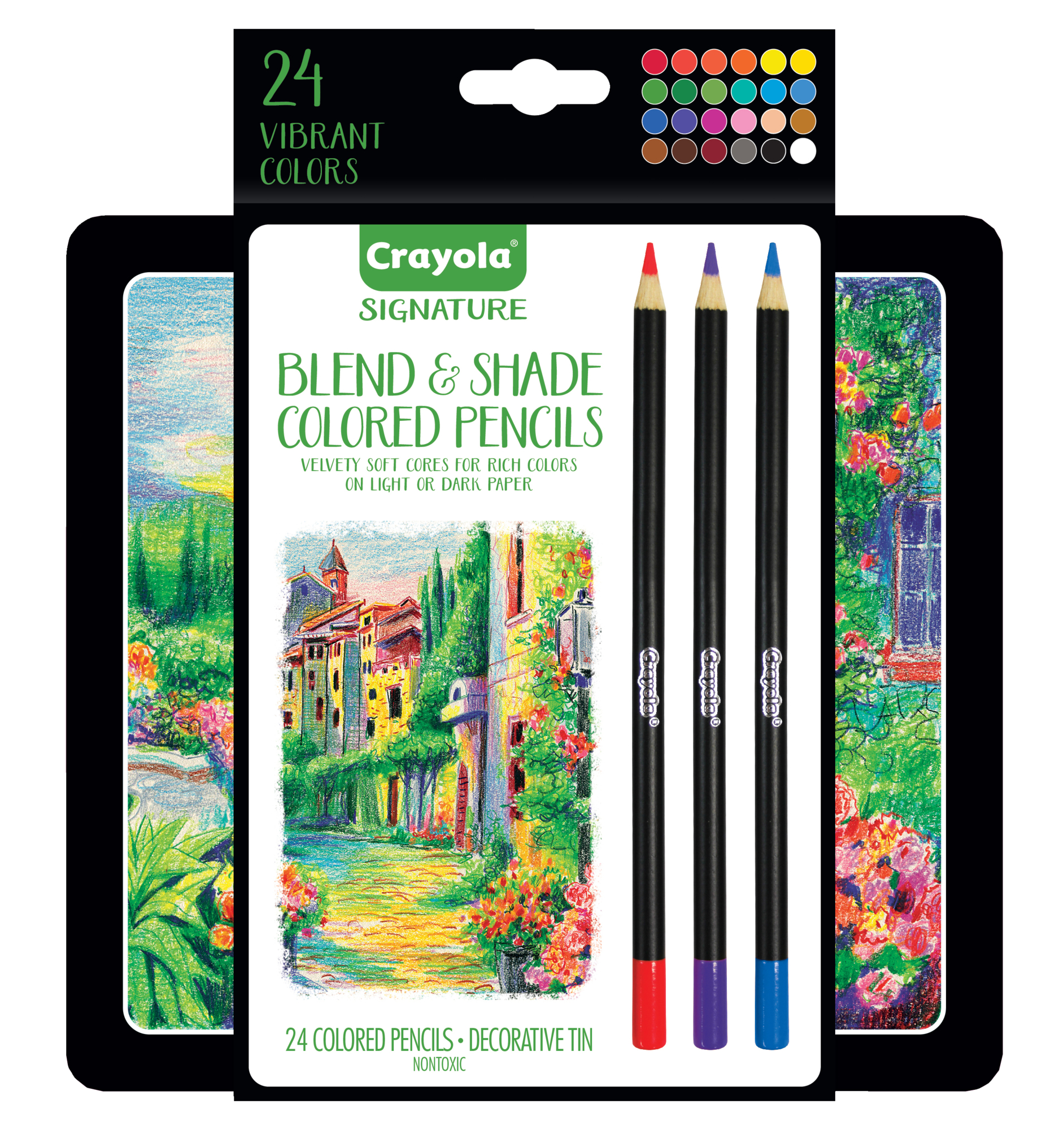 Crayola Signature Blend and Shade Colored Pencils, 24 Count