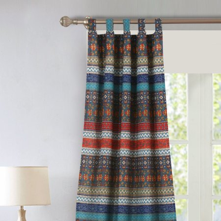 Tab top striped sheer curtains