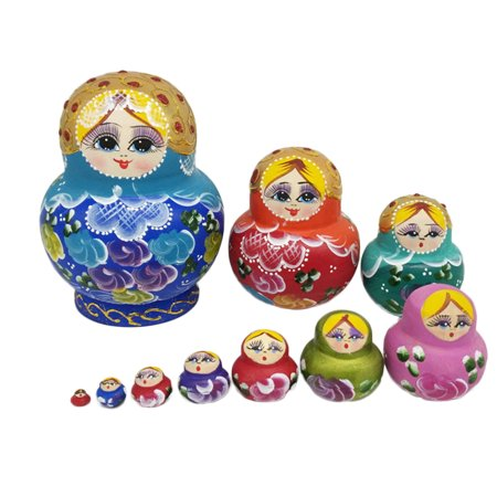 10 Pcs Cute Nesting Dolls Big Belly Girl Colorful Russian Stacking Dolls Collection - Russian Doll Halloween