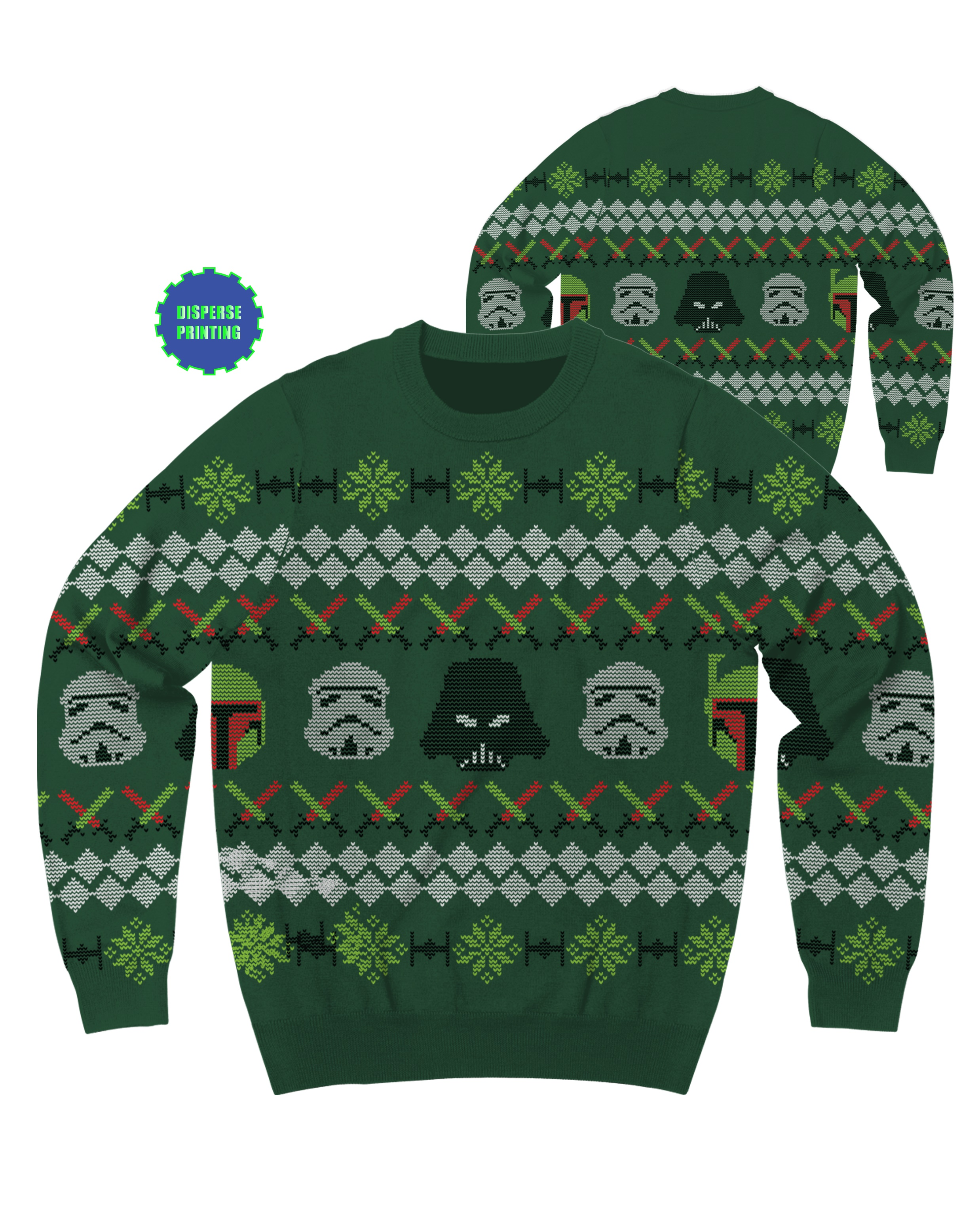 mad engine star wars imperial holiday ugly christmas sweater walmartcom - Star Wars Ugly Christmas Sweater