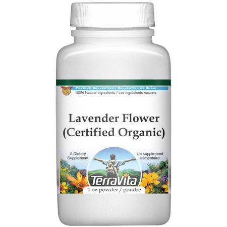 Lavender Flower (Certified Organic) Powder (1 oz, ZIN: (Lavender Flower Powder)
