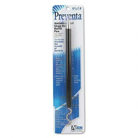 - Snap-on Refill for Preventa Deluxe Counter Pen, Medium Pt., Black Ink