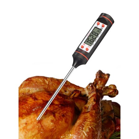 Fosmon Digital Cooking Thermometer Instant Read with Long Stainless Steel Probe & LCD Screen for Food, Meat, Kitchen, BBQ, Grill, Liquid,
