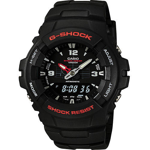 Casio Mens G-Shock Ana-Digi Watch, Molded Resin Case and Band