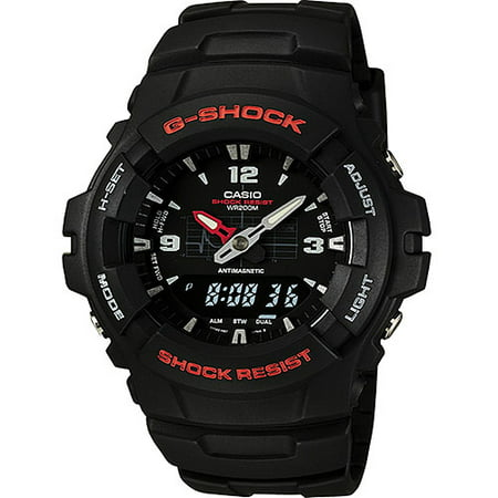 G-shock Stopwatch - Casio Mens G-Shock Ana-Digi Watch, Molded Resin Case and Band