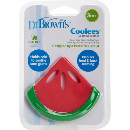 Dr. Brown's Coolees Soothing Teether, BPA-Free, Watermelon