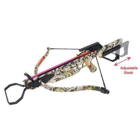 175 lb Black / Vista Camouflage Hunting Crossbow Archery Bow +8 Arrows +Rail Lube +Stringer +Rope Cocking Device 150