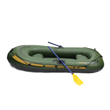 Multifunctional 2/3 Person Inflatable Fishing Boat / Tender Dinghy Raft,  Suit for Water Sports, River Fishing, Full Accessories