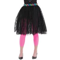 80s Black Lace Skirt Costume - Standard - Dress Size 6-8
