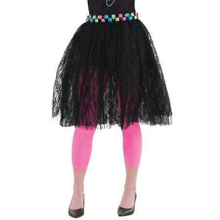 Madonna 80s Dress (80s Black Lace Skirt Costume - Standard - Dress Size)