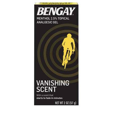 Vanishing Scent Bengay Non-Greasy Pain Relief Gel, 2 oz Advanced Therapy Pain Relief Gel