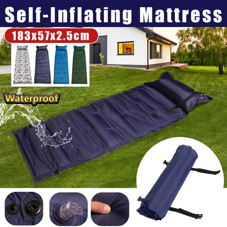 Black Friday Big Clearance 4 Colors Polyester Self-Inflating Air Mat Mattress inflatablebed Pad Pillow Waterproof Hiking Sleeping Bed Outdoor