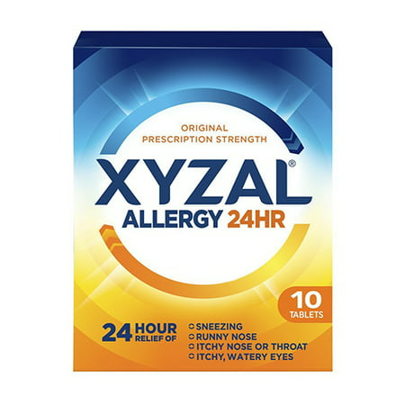 Xyzal Allergy 24 Hour Relief Of Tablets, 10 Ea
