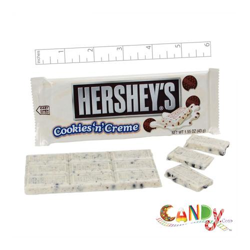 Hershey's Cookies n Creme Bar 1.55oz: 36 Count